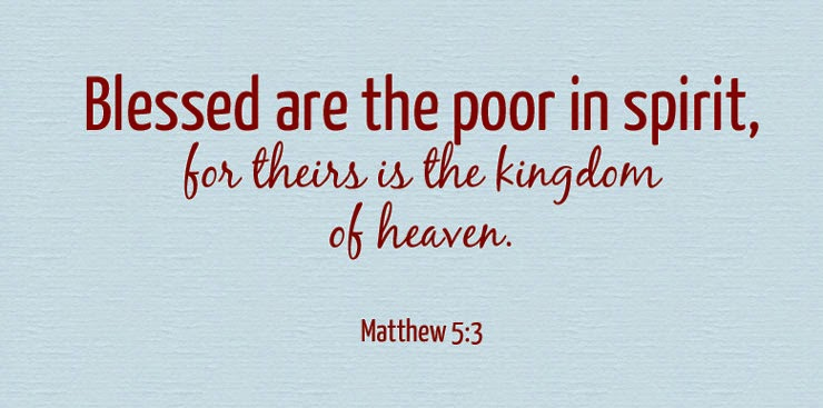 Matthew 5 3
