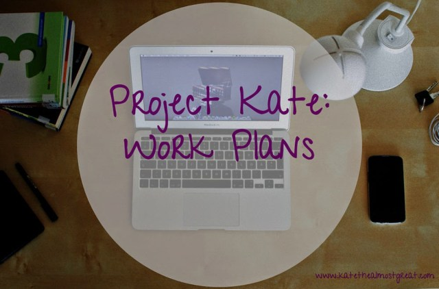 Project Kate: Work Plans