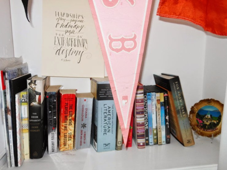 Decorating Bookshelves | Kate the (Almost) Great