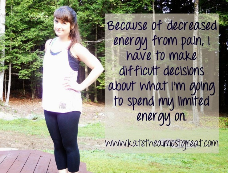 Low Energy from Chronic Pain - Kate the (Almost) Great