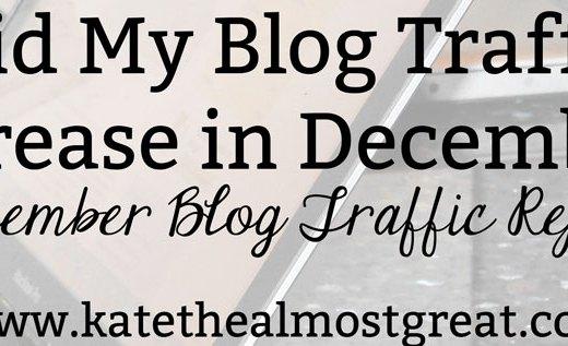 Did my blog traffic increase in December?