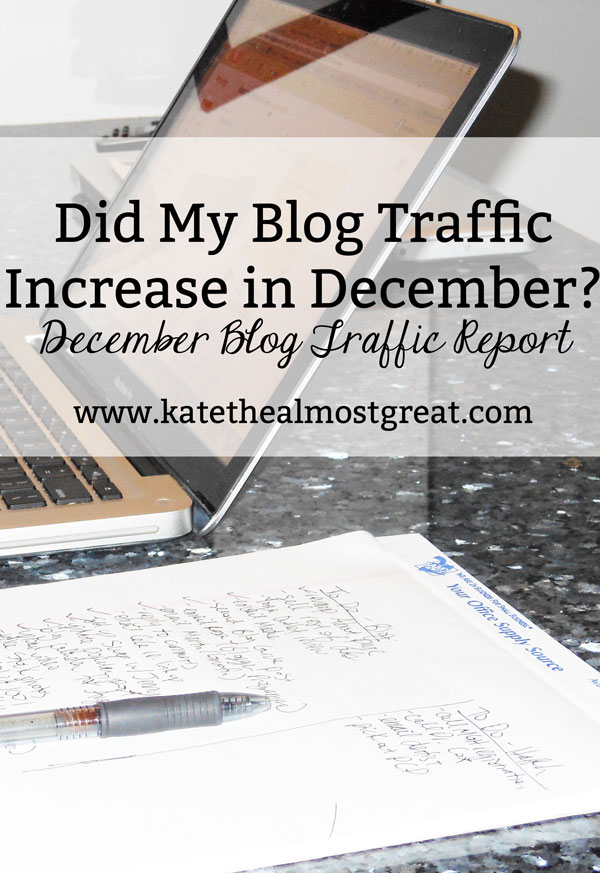Did My Blog Traffic Increase in December?
