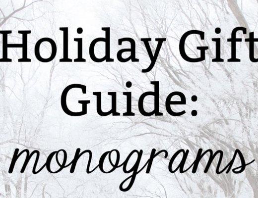 Monogram and Preppy Gift Ideas