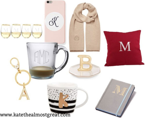 Miscellaneous monogram and preppy gift ideas (often much cheaper than jewelry, bags, or clothing)