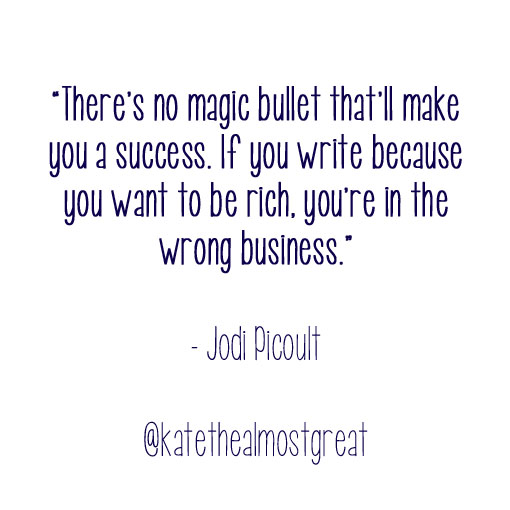 Jodi Picoult on writing
