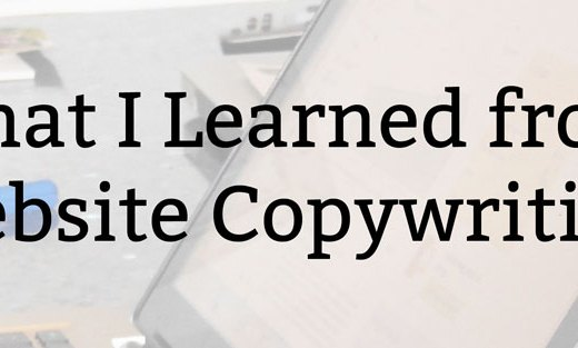 What I Learned from Website Copywriting