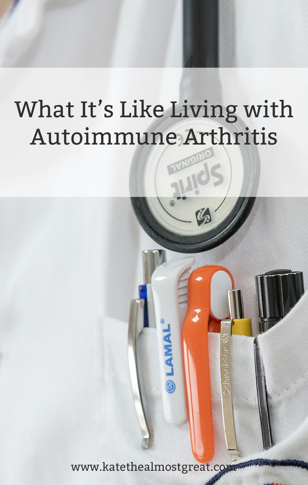 For some people, living with arthritis affects very little of their life. But for others, it affects most moments of the day. Check out how living with autoimmune arthritis affects my life in this post about a day in the life of an arthritis patient.