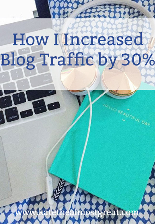 Want to increase site traffic by at least 30%? In this post, I share what I did to achieve just that, including the thing I tried that didn't help my blog traffic.
