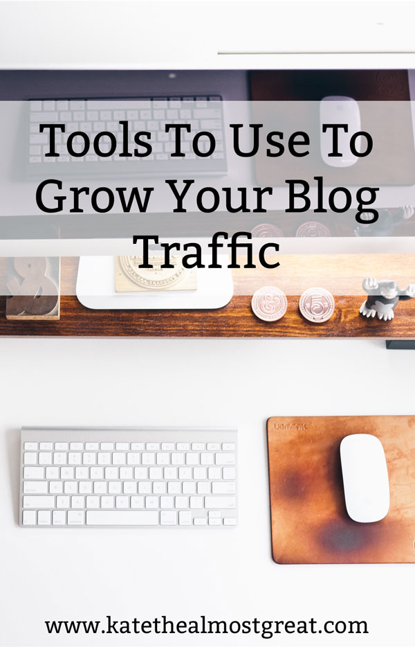 We all want to grow our blog traffic. If you're hitting a wall and don't know what to do, try one of these 12 tools! I'm sharing what I did to make them successful in 2017 so you can grow your traffic, too.