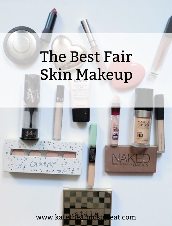 Trying to find the best makeup for someone with fair skin? As a pale person who loves makeup, I've got you covered. Here are all the products I recommend for my fellow fair skin people. (High-end and drugstore)