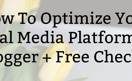 How To Optimize Your Social Media Platforms as a Blogger + Free Checklist
