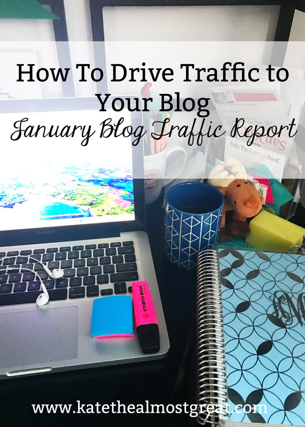 Looking to grow your blog? Aren't positive exactly how to drive traffic to your blog? Check out my January blog traffic report, including what I did that caused my blog traffic to grow by 38% in January.