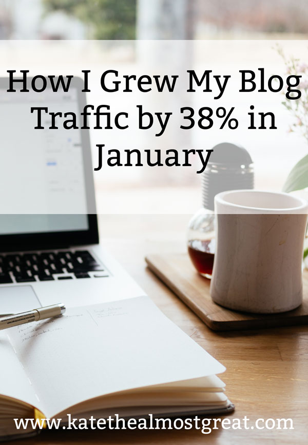 Do you know exactly how to drive traffic to your blog? There are many strategies out there, and I'm sharing the ones that I used that led to my blog traffic increasing by 38% in January.