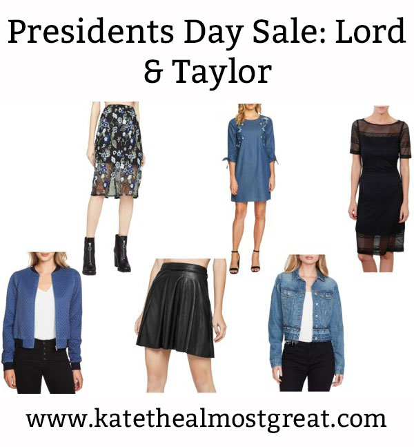Sharing the most affordable items from Lord & Taylor's Presidents Day sale.