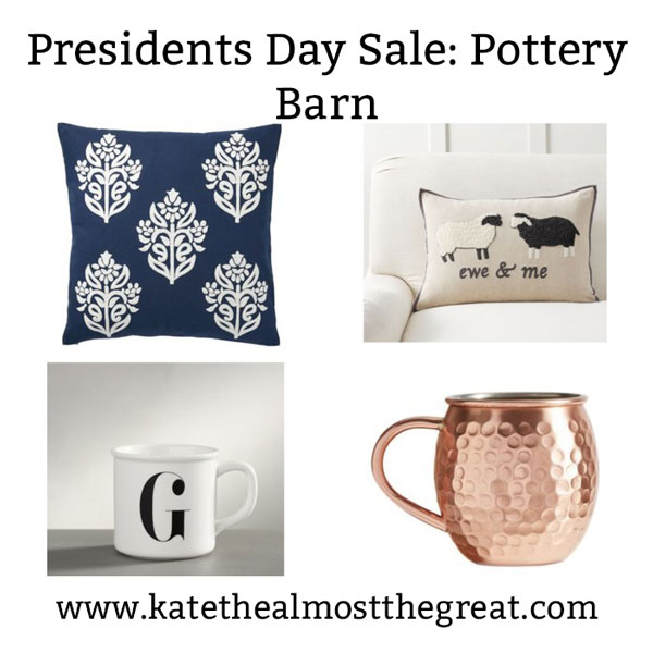 The most affordable items from Pottery Barn's Presidents Day sale.