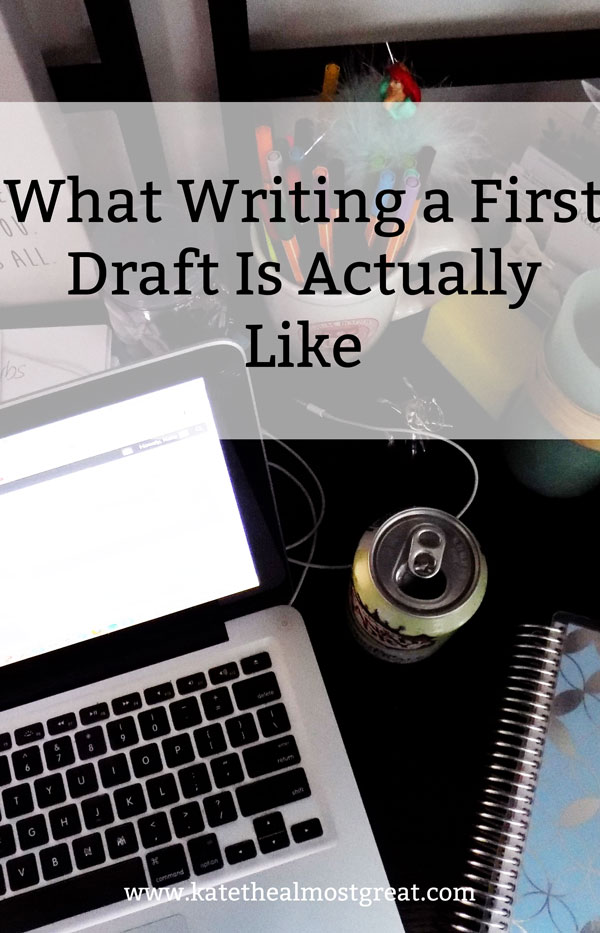 Ever wonder what it's actually like to write a first draft of a novel? I'm breaking it down in what I hope is a humorous way to show you the rollercoaster of emotion that writing the first draft is.