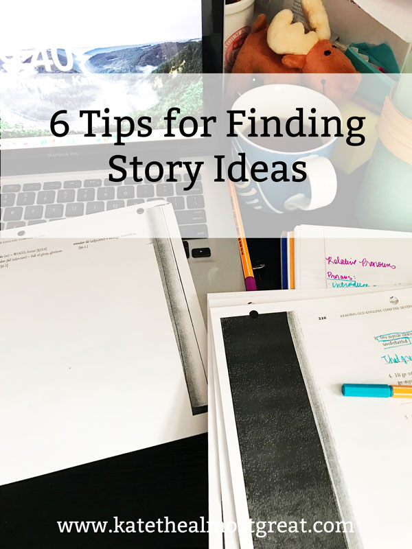 Writing is fun, but sometimes you don't have any story ideas. Here are 6 tips to help you find ideas.