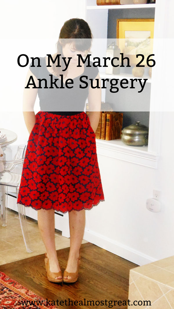Sharing the details of my March 26 ankle surgery, the rare condition that requires it, and what the recovery will look like.