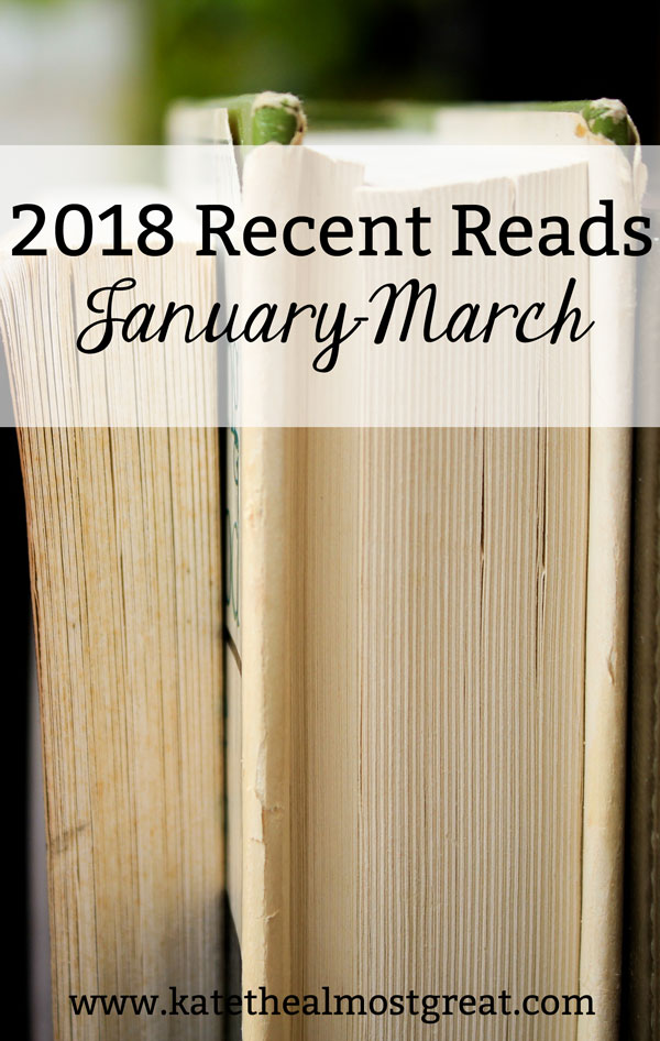 Looking for book recommendations? I'm recapping what I read in the first quarter of the year, including my personal rating of each book, so you can find something to read. I read a wide variety of genres, so you're sure to find something that you'll want to read!