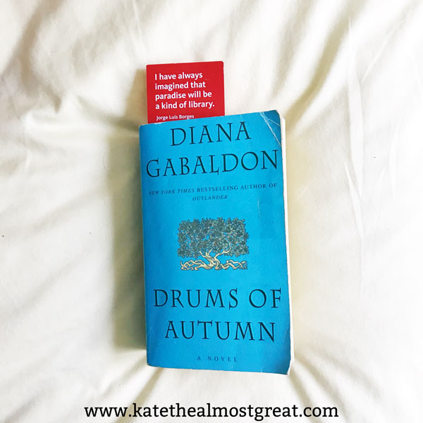 Reviewing what I've read so far this year, including Drums of Autumn.