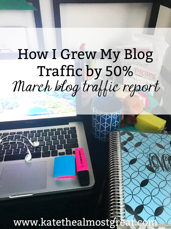 Want to grow your blog traffic? There are lots of tips and tricks on the Internet to help you do just that, but do you know if they'll work? Here are the things that I did that grew my traffic by over 50% in March, so you know that they work.