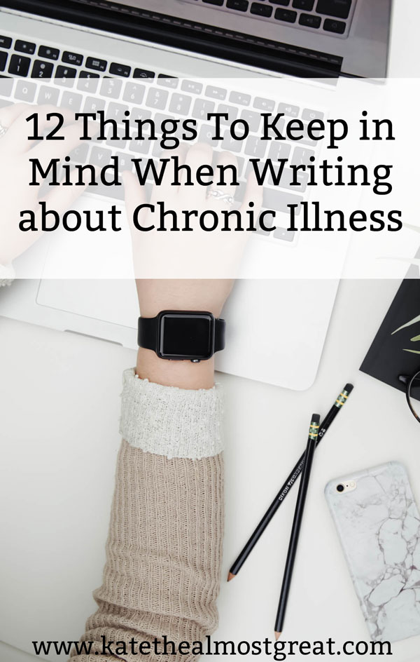 Because 40% of Americans live with a chronic illness, you should include people with them in your novel. Here are 12 things to keep in mind when writing about chronic illness with examples from the show The West Wing as well as my personal life.