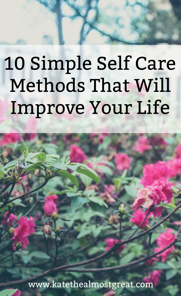 Self care can improve your mental and physical health. I'm sharing more reasons why you need to practice it and 10 simple self-care methods that will improve your life.