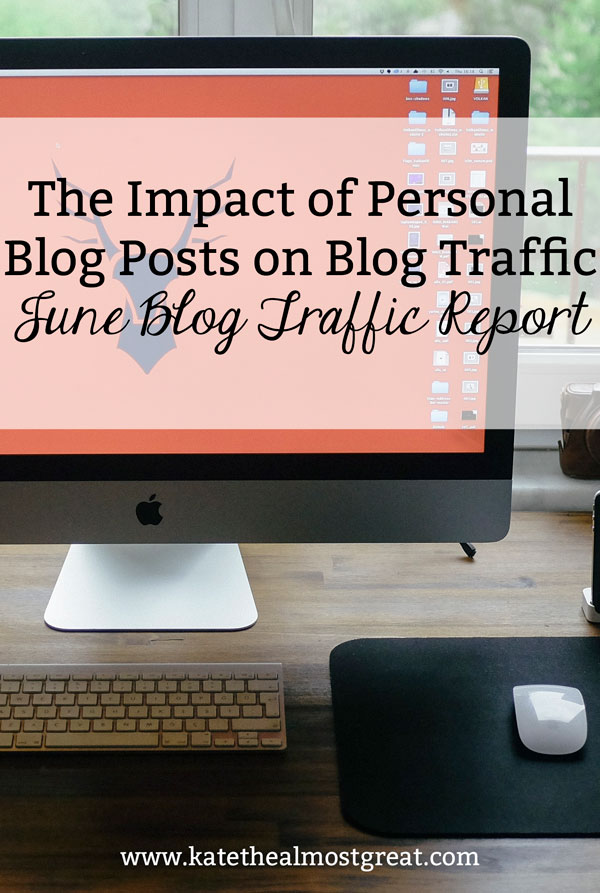 I tried writing more personal blog posts in June, in addition to trying many other things to grow my blog traffic. Check out whether my website traffic grew or not.