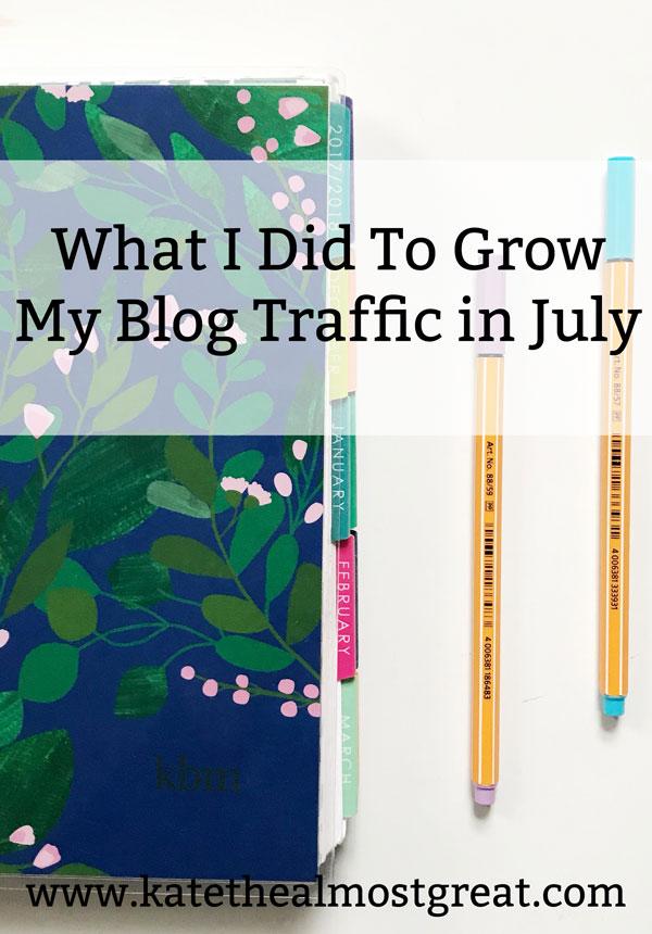 Improve site traffic, grow site traffic, grow blog traffic, blog traffic, blog traffic report, site traffic, how to grow your blog, grow your blog