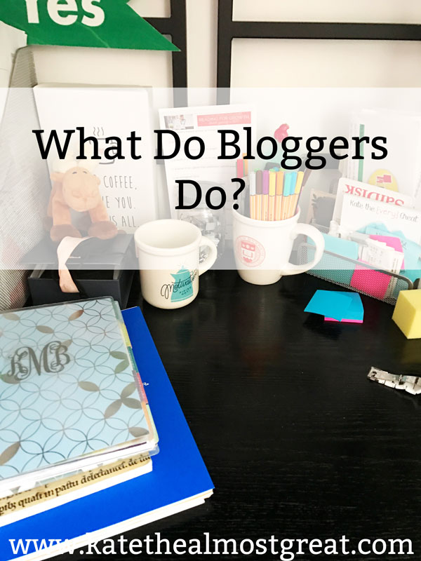 """Boston lifestyle blogger Kate the (Almost) Great answers the question, """"What do bloggers do?"""""""