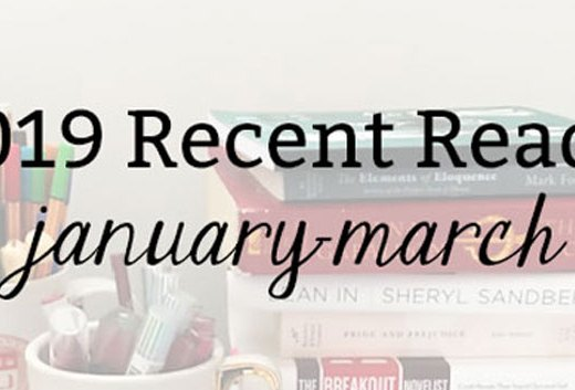 2019 Recent Reads: January-March