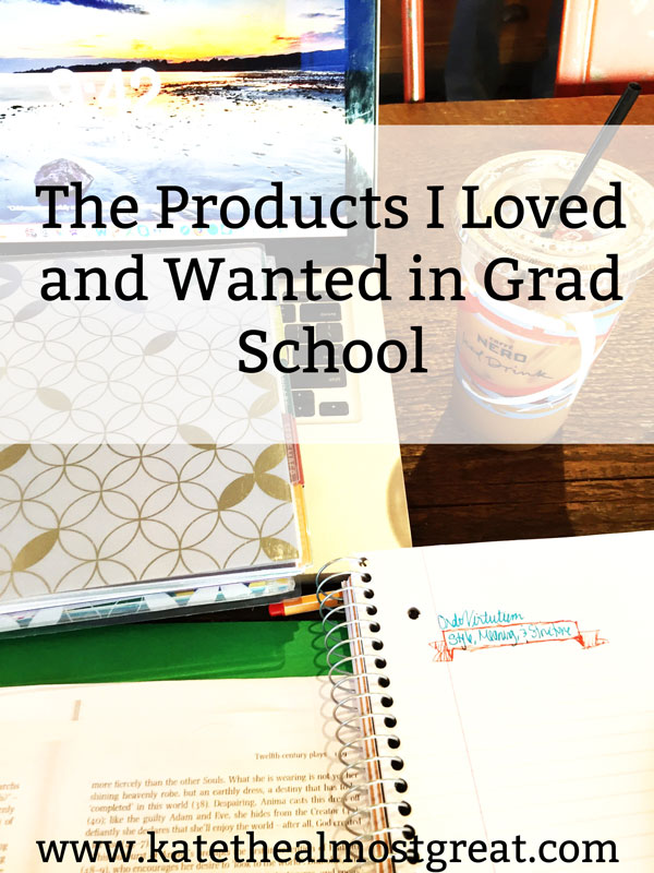 Boston lifestyle blogger Kate the (Almost) Great finished a masters in December 2017. 4 years after she started grad school, she shares the products he loved, and the ones she wanted, in grad school.