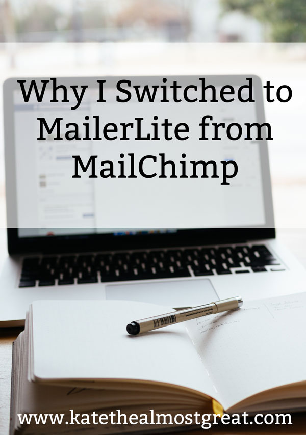 After 4 years with MailChimp, I recently switched to MailerLite for my email newsletter. In this post, I explain why I left MailChimp, the various options out there for newsletters, why I chose MailerLite, and what my experience has been so far.