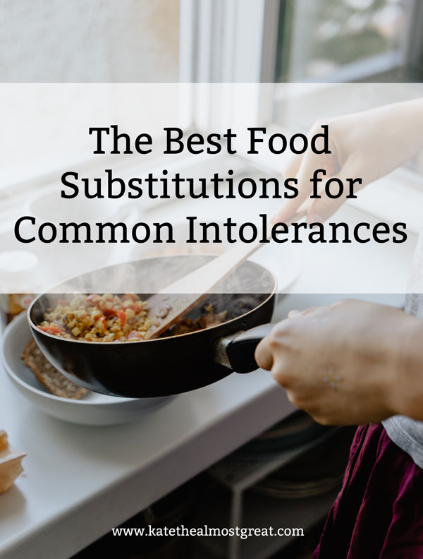 I've cut out a lot of foods for my autoimmune disease. In this post, I share the best food substitutions I've found for common intolerances: gluten, dairy, corn, soy, and eggs. I'm also sharing the brands I love!