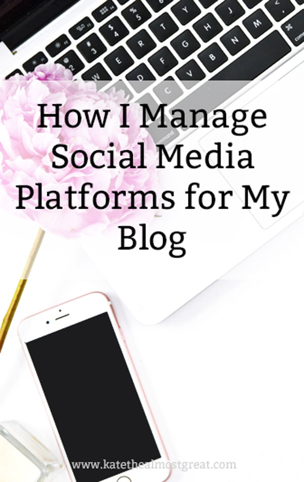 As a blogger, I do a lot of things that aren't writing blog posts. One such thing is managing social media. In this blog post, I share how I manage social media platforms for my blog, as well as my preferred tools.