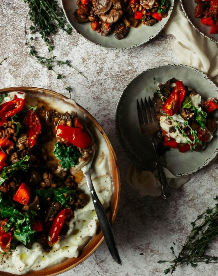 comforting lentil stew, perfect for a winter's lunch