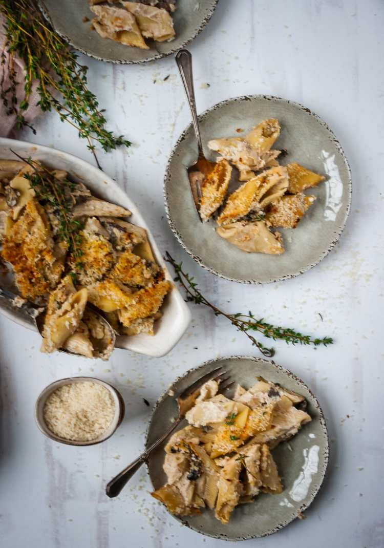 Homemade chicken tetrazzini