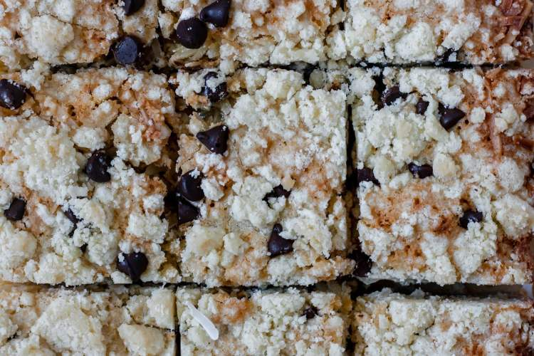Easy and delicious buttery coconut bars