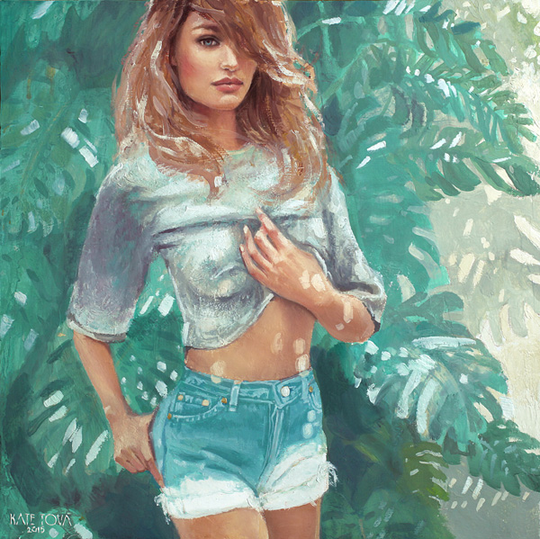 Candice Swanepoel , Victoria's Secret Painting, Model, Palm Trees, Sunlight, Art, Artwork, Painting, Original, Oil, Realistic, Painting For Sale, Sold, Fine Art, Buy A Painting, Wall Art, Gift, Christmas, Artist, Painting Art, Portrait Artist, Portrait, Contemporary Painting, Painting Gallery, Custom Art, Custom Paintings, Nature, Usa, America, American Art,, Blue, Kate Tova Artist, Canvas, Christmas, Gift, Anniversary, New Year, Birthday Present, Unique, Exclusive, Expensive, Luxurious, Living Room, Guestroom, Kate Tova, Wedding Gift, Valentines Day Gift, Hand Painted, Art For Dining Room, Guest Room, Living Room, Bedroom, Canvas Print, Print, Painting On Canvas