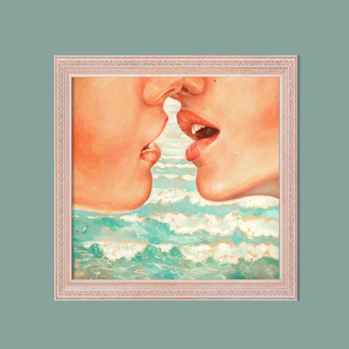 oil painting, kiss, oil portrait, ocean, love, woman, girl, sexy, oil on canvas, art, artwork, painting, original, realistic, painting for sale, sold, gay, fine art, buy a painting, wall art, gift, christmas, artist, portrait art, portrait artist, contemporary painting, painting gallery, painting, custom art, custom paintings, nature, water, usa, america, american art, blue, turquoise, Kate Tova artist, christmas, gift, anniversary, new year, birthday present, unique, exclusive, expensive, luxurious, living room, guestroom, Kate Tova, wedding gift, Valentines day gift, hand painted, art for dining room, guest room, living room, bedroom, print