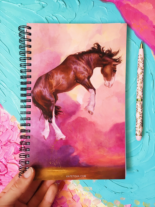 Horse Notebook Sketchbook Clydesdale painting buy from the artist exclusive equine theme gift present for horse lover