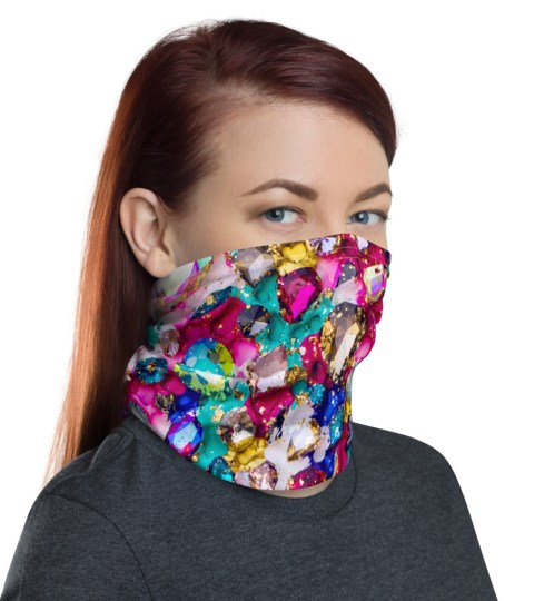 "Neck Gaiter ""Crystals"""