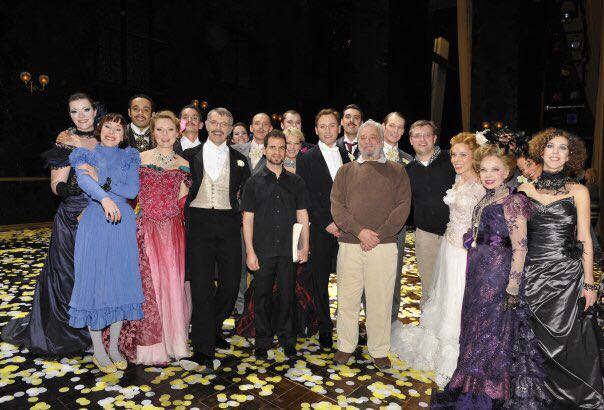 Steven Sondheim and the cast of 'A Little Night Music' - Theatre du Chatelet, 2010