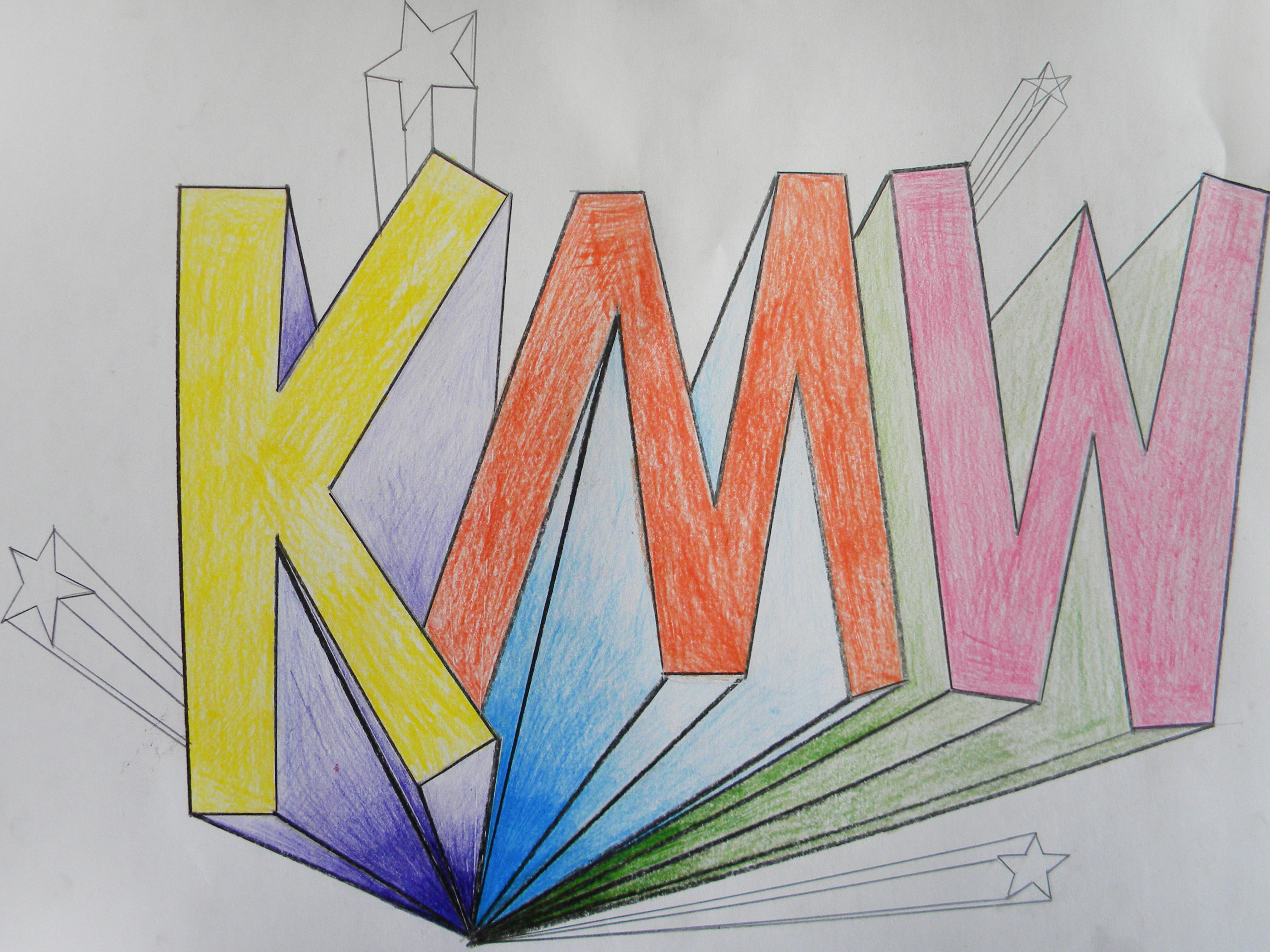 Perspective Letters One Point Perspective Kate Wolford