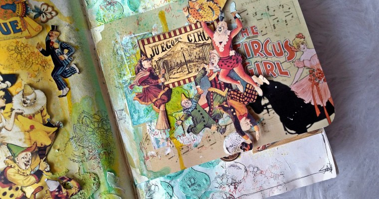 The Vintage Circus: Altered Book Part 2