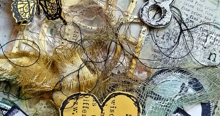 Gears and Legs: Mixed Media Art Journal Layout