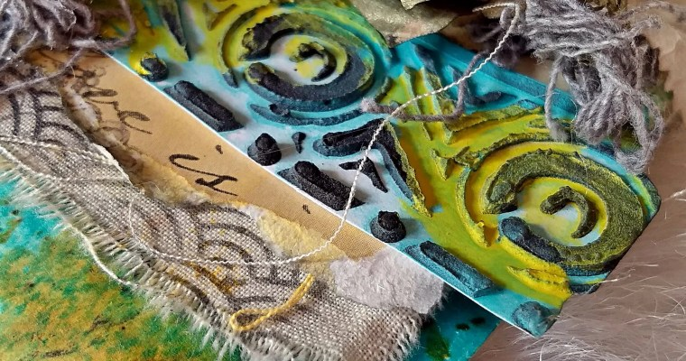 Is Turquoise My Color?: Mixed Media Tag