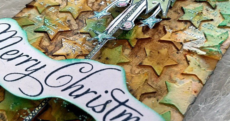 Weeping Trees Make Me Smile: Mixed Media Christmas Tag
