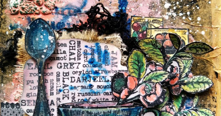 Tuesday Tea: Mixed Media Card