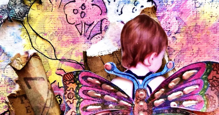Children Are Meant to Grow and Fly : Mixed Media Layout